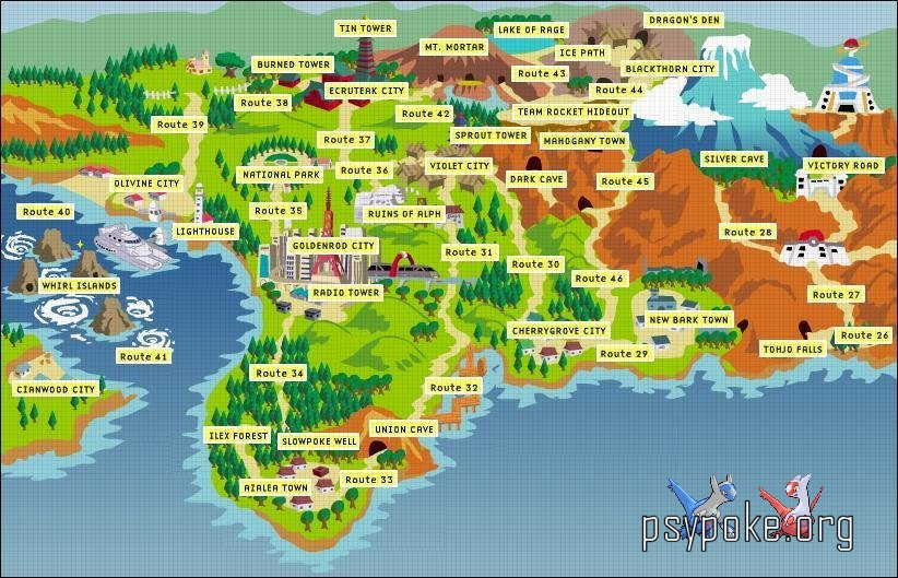 Regions of the Pokemon World -